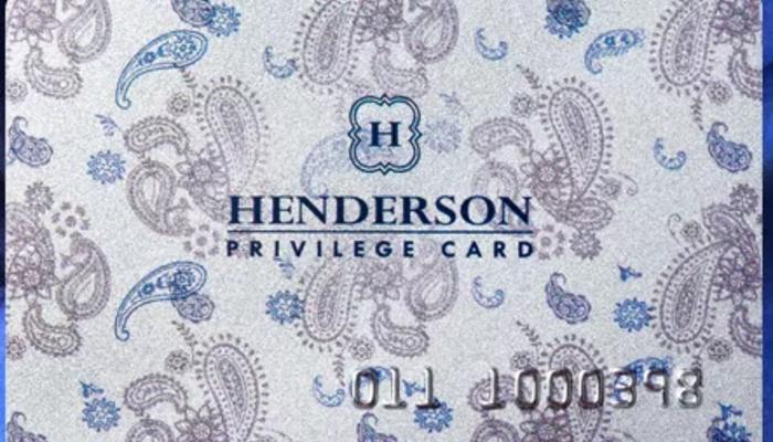 Скидочная карта Henderson